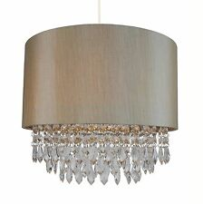 Gold lampshades and lightshades ebay modern soft gold ceiling light pendant shade w matching inner clear droplet b aloadofball Image collections