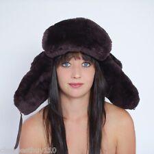 Hedgehog chapeau en peau d'agneau,aviateur,Bonnet fourrure,DE FOURRURE brun