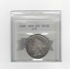**1870 LCW**, Coin Mart Graded Canadian Silver 50 Cent, **VF-20**