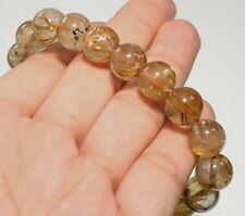 10mm Natural Golden Rutilated Quartz Bead Bracelet CGR402