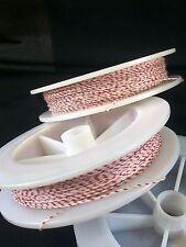 (1) White w/ Red Genuine Irish Linen Single Pool Billiard Cue Wrap Spool