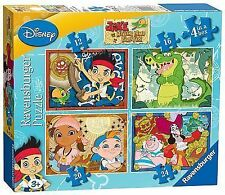 Ravensburger Disney Jake and The Neverland Pirates Jigsaw Puzzles 4 in 1