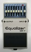 BOSS GE-7 Equalizer Guitar Effects Pedal made in Japan 1990 #190 Free Shipping