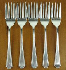 5 x Salad Dessert Forks Birks Regency Plate Chatsworth vintage silverplate