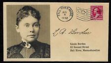 Lizzie Borden collector's envelope w original period stamp 125 years old OP1370