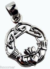 Collier Buffy symbole claddagh en argent pendentif celte claddagh silver pendant