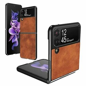 For Samsung Galaxy Z Flip 3 5G PU Leather Case Hard PC Shell Ultra Tough Cover