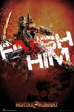 "MORTAL KOMBAT POSTER ""FINISH HIM"" LICENSED ""BRAND NEW"""