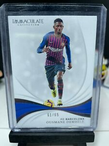 2018-19 Panini Immaculate Soccer OUSMANE DEMBELE Base Card No. 4 Barcelona 61/65