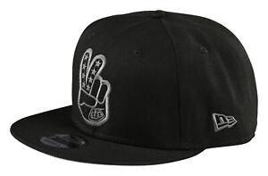 Troy Lee Designs Snapback Hat Peace Sign Adult OSFA - Black