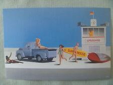 "POSTCARD...SURF RESCUE..LIFEGUARD..BEACH..1940'- 50""s PICKUP....BIKINI GIRLS"