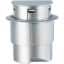 "Xystec Versenkbarerer 3-Port USB-Hub ""Sensor Glide"", Einbau Tisch-Kabeldose"