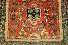 Cir 1920s ANTIQUE SHIRVAN PERPEDIL DESIGN CAUCASIAN RUG 2.4x3.4 VEGETABLE DYE