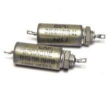 2x Sprague Netzteil-Filter 2JX48A3, 2A/100VDC, MIL Spec mit Glasdurchführung