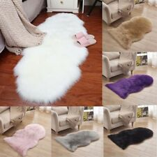 Soft Artificial Wool Fur Rug Faux Sheepskin Long Hair Living Room Bedroom Rug