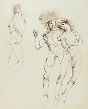 LEONOR FINI - Regards - 1989 Hand Signed and Numbered Etching - Plate 04