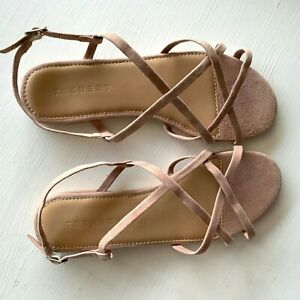 COUNTRY ROAD : NEW! SZ 38 trenery gigi suede sandal pale apricot 7 [CR LOVE]