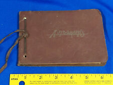 1946 Leather Autograph Book Binder Antique-VTG Indiana Georgetown Signed Used
