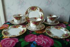 3 Vintage Royal Albert Old Country Roses China Trios Tea Cups Saucers Plates set