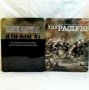 BAND OF BROTHERS + THE PACIFIC Blu Ray Complete Ltd. RATION TIN 12 Discs Free📮