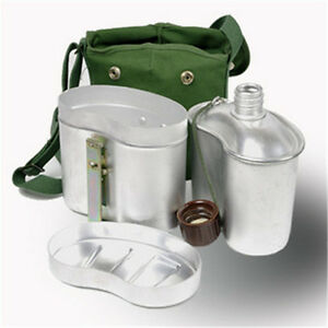 Classic 78version Army PLA Aluminum Metal Lunch Boxes  Kettle Canteen Outdoor