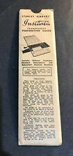 Vintage Stanley Gibbons Instanta Transparent Perforation Gauge Stamps VGC A188