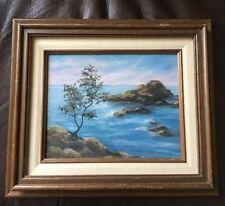 Vintage Signed Oil Painting Ocean Front Sunrise/set Mexico Artist Scroggins