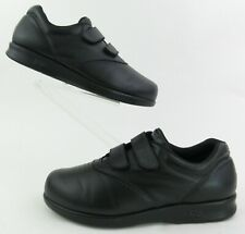 SAS 'Me Too' Womens Walking Shoes EZ Straps Black Leather US 10WW Extra Wide!