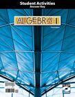 BJU Press- Algebra 1 Student Activities ANSWER KEY (3rd Ed) 270645