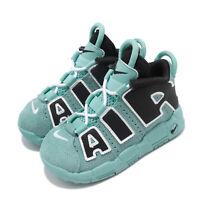 Nike Air More Uptempo TD Light Aqua Black Baby Toddler Infant Shoes CK0825-403
