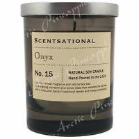 Scentsational Natural Soy Wax 11oz Single Wick Medium Smoke Candle - No. 15 ONYX