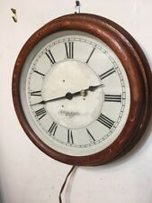 Antique E Howard & Co Boston Oak Case Electric Gallery Wall Clock