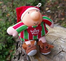 1991 Ziggy Christmas Holiday Plush I Love You Tom Wilson Reindeer Slippers