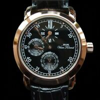 NEW MENS KENNINGTON 20 JEWEL AUTOMATIC REGULATOR VAAN KONRAD 22K GOLDPLATE WATCH