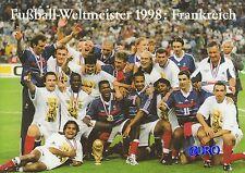Fußball Weltmeisterschaft + Weltmeister Postkarten Serie + 1998 + FRANKREICH +