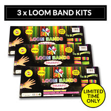 3 x DIY BOX SET 1800 pcs Loom Band Craft Colour Rubber Refill Make Bracelet