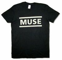Muse Clean Classic Name Logo Black T Shirt New Official Band Merch