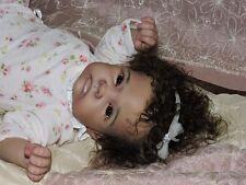 REBORN BABY GIRL  PORSHA STRYDOM AA ETHNIC HISPANIC BIRACIAL NEWBORN DOLL ART NR