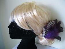 Violet Plume Cristal Mariage Pince à cheveux Vintage 50 s Rockabilly
