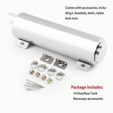 """3""""x10"""" Polished Stainless Steel 32 Oz Radiator Overflow Tank Bottle Catch Can QK"""