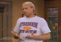 """COACH"" BILL FAGERBAKKE 'DAUBER' Screen Worn MINNESOTA T-Shirt Football COA"