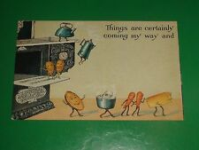 ZU441 RARE Vintage Fantasy Postcard AAdvertising Excelsior Stove Co Quincy IL