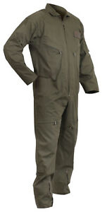 Olive Drab Green Air Force Style Flightsuit Coverall Flight Suit Rothco 7500