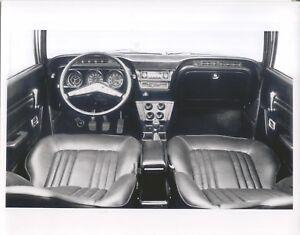 Ford Cortina Mk 3GT  LHD Interior black and white period photo