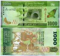 SRI LANKA 1000 1,000 RUPEES 2019 P 127 NEW DATE AND SIGN UNC
