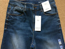 "BNWT M&S Medium Blue Mid Rise Straight Leg Sculpt & Lift Jeans 24 Reg 29.5"" £35"