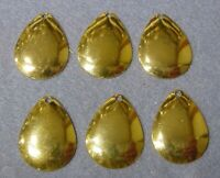 Lot of 6 Worth Mfg No 2 Lime Chartreuse Colorado #2 Spinnerbait Blades