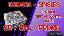 Digimon Trading Card Game - Release Special Booster Singles V.1.0 SR SEC & Promo