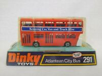 Dinky Toys 291 Red Atlantean City Bus Die-Cast Model Kennings No 17 Chesterfield