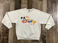 Vintage 90s Walt Disney World Large Spell Out Crewneck Pullover Sweater Us: L